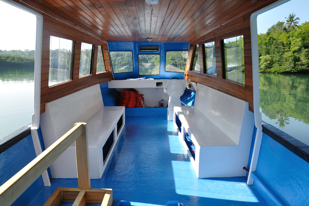 Diving boat interior